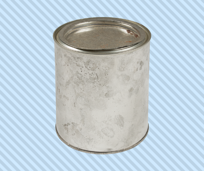 Paint can food storage
