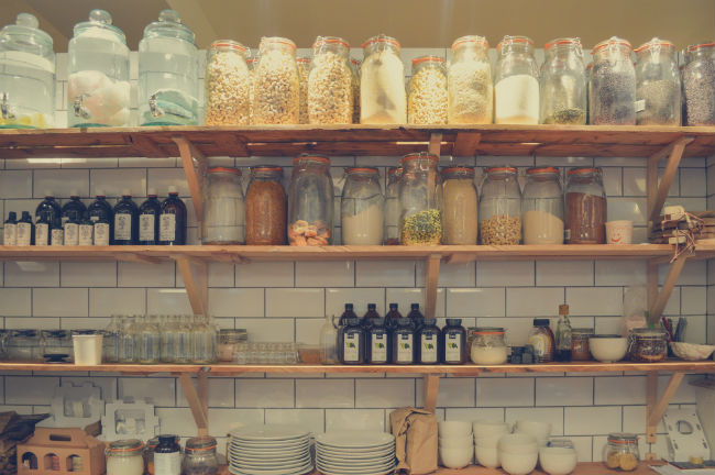 Pantry jars food storage