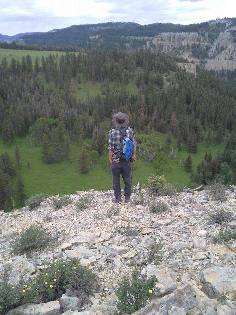 Man standing in the mountains of Montana